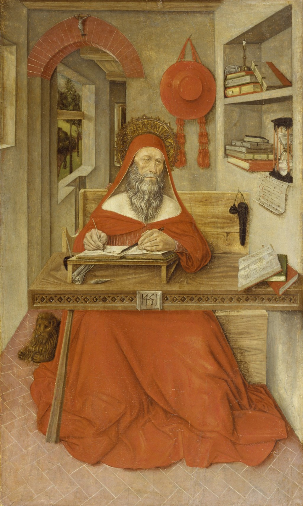 """Saint Jerome in His Study"" by Antonio de Fabriano  Image credit to the Walters Art Museum, under the CC0 license."